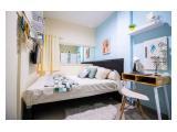 Kamar dengan Kasur lega 160x200 cm dan semua furniture baru lainnya.