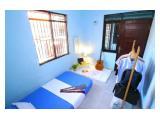 Area kamar tidur yang dengan AC, dilengkapi jemuran untuk tiap kamar
